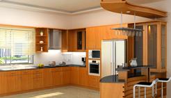 Tủ bếp gỗ gia đình anh Nam - Ba Đình - HN