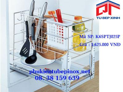 Phụ kiện tủ bếp - Kệ 3 ngăn dụng cụ ray giảm chấn tủ 300