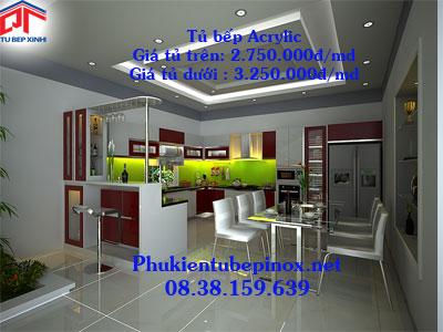 Tủ bếp Acrylic nhà anh Vinh