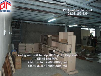 Xưởng sản xuất tủ bếp MFC, Giá tủ bếp MFC 2.400.000đ/md