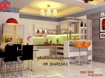 Tủ bếp gỗ sồi nhà anh Bình - Vĩnh Long