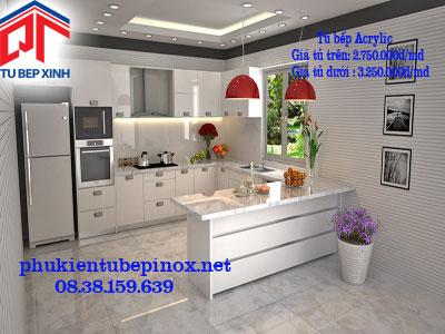 Tủ bếp acrylic , giá tủ bếp acrylic chỉ còn 2.750.000đ/md