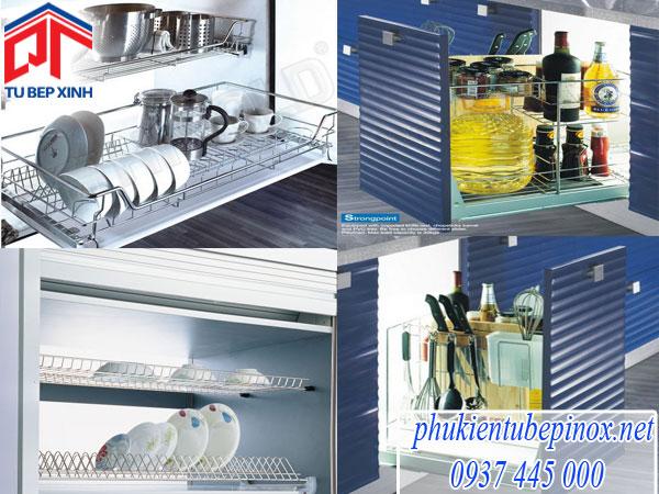 Những mẫu phụ kiện inox không thể thiếu trong tủ bếp hiện đại