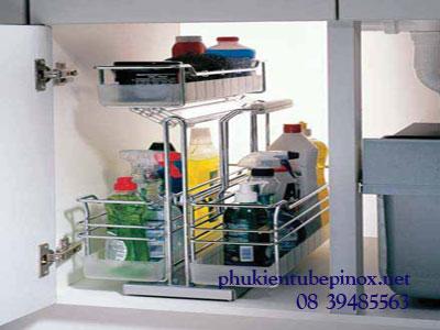 Phụ kiện tủ bếp Hafele - Phụ kiện rổ kéo với 2 móc treo rổ