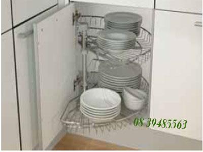 Phụ kiện tủ bếp Hafele - Kệ mâm xoay 1/2  cho tủ bếp dưới