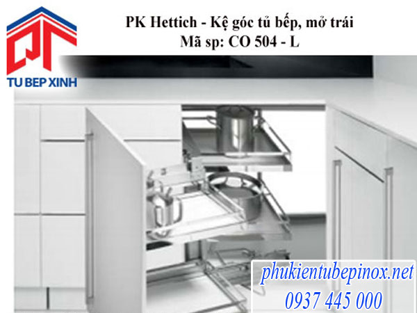 Phụ kiện tủ bếp Hettich - Kệ góc 4 rổ CO 504 - L/R.