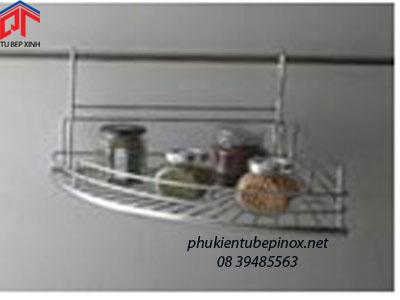 Kệ treo tủ bếp - Kệ góc đơn inox