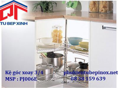 Phụ kiện tủ bếp dưới  - Kệ góc xoay 3/4 inox