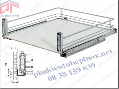 Bộ khay kéo gắn mặt hộc tủ Arena Classic 540.24.294 (chiều sâu 500mm, chiều rộng lọt lòng 412-418mm)