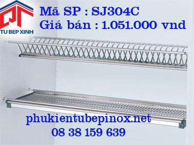 Phụ kiện tủ bếp trên - Kệ úp chén 2 tầng co khay hứng nước cho tủ 900