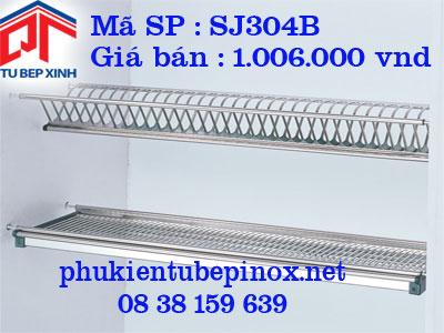 Phụ kiện tủ bếp trên - Kệ úp chén 2 tầng co khay hứng nước cho tủ 800