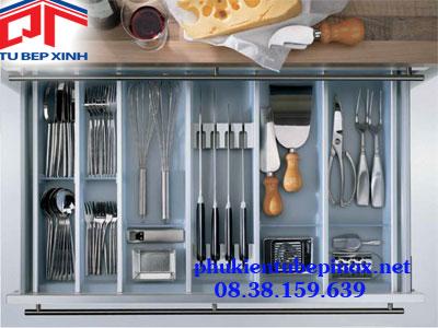 Phụ kiện tủ bếp Hafele - Khay chia dao, muỗng đũa Hafele cho hộc tủ bếp