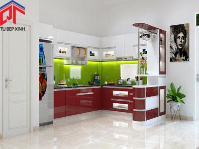 Tủ bếp Acrylic nhà Anh Vinh - Quận 2