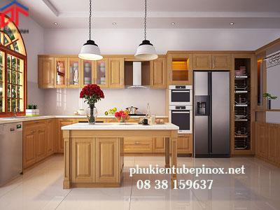 Tủ bếp gỗ Sồi nhà anh Tuấn - Quận 7