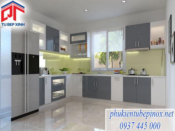 Tủ bếp Acrylic nhà Anh Dung - Quận 2