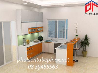 Tủ bếp hiện đại nhà anh Sơn - QUẬN 7
