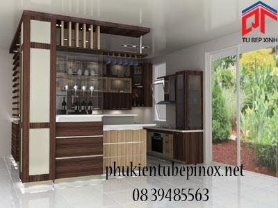 Tủ bếp gỗ nhà anh Sự - Kiên Giang