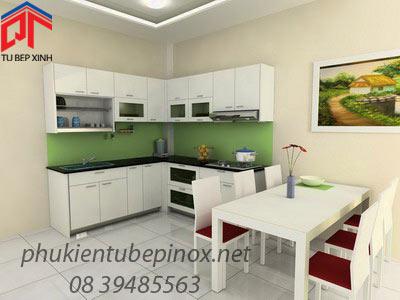 Tủ bếp đẹp nhà chị Cúc Hương