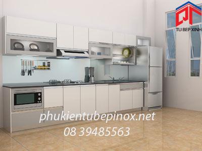 Tủ bếp hiện đại  nhà chị Phương