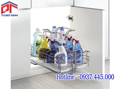 Kệ xà phòng  ray giảm chấn inox 304