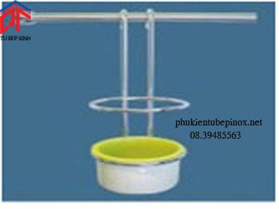 Kệ treo tủ bếp - Ống đũa màu cốm sứ inox