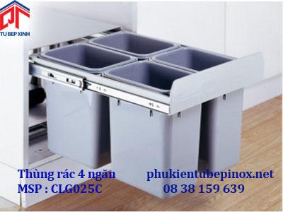 Thùng rác phân loại 4 ngăn