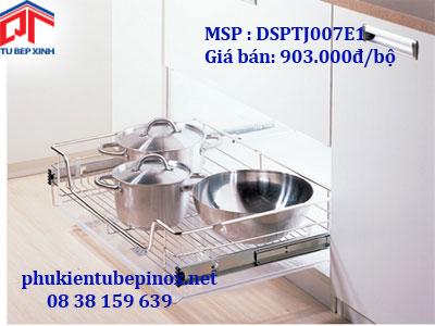 Phụ kiện tủ bếp dưới - Rổ xoong úp nồi  loại PTJ cho tủ 600 ( có khay hứng nước)