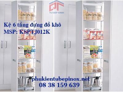 Phụ kiện tủ bếp inox - Tủ đồ khô 6 tầng
