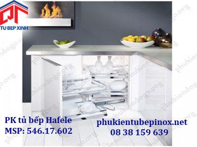 Phụ kiện tủ bếp Hafele - Bộ rổ kéo 4 rổ cho tủ góc Magic Corner giảm chấn ( góc phải)