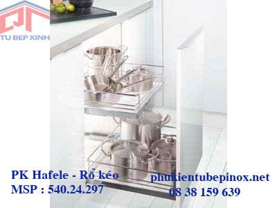 Phụ kiện tủ bếp Hafele - Bộ rổ kéo gắn mặt hộc tủ Arena Classic, tủ rộng  600mm