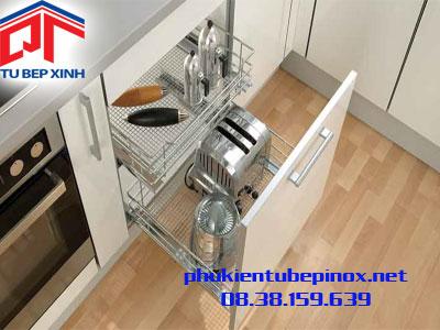 Phụ kiện tủ bếp Hafele - Bộ rổ kéo 2 tầng đáy mặt lưới cho hộc tủ dưới