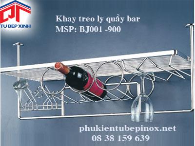 Khay treo ly quầy bar 900mm
