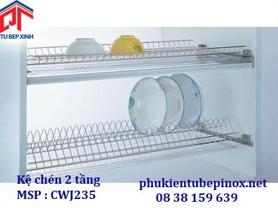 Phụ kiện tủ bếp Wellmax - Kệ chén dĩa 2 tầng
