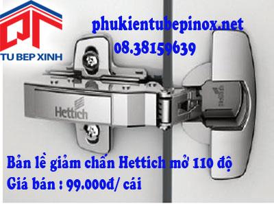 Phụ kiện tủ bếp Hettich - Bản lề giảm chấn SENSYS 110 độ