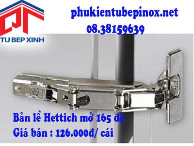 Phụ kiện tủ bếp Hettich - Bản lề Intermat 165 độ