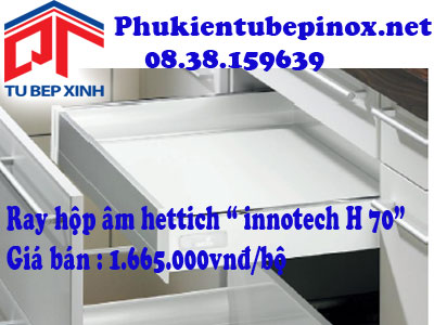 Phụ kiện tủ bếp Hettich - Ray hộp âm Innotech H70