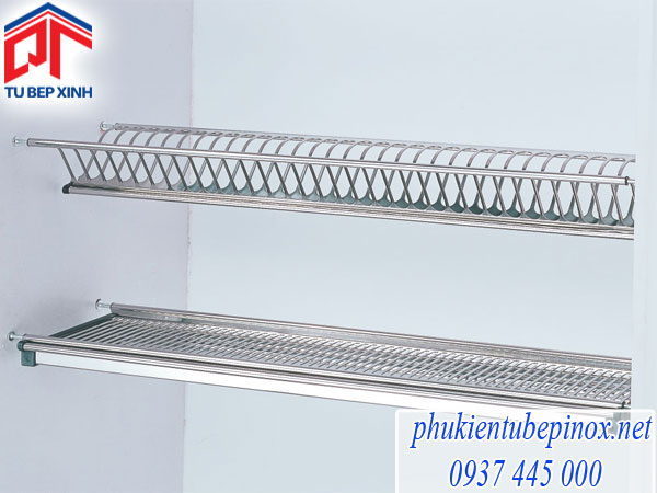 Phụ kiện tủ bếp Wellmax -  Khay úp chén dùng cho tủ bếp trên bằng inox