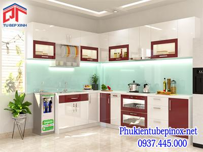 Tủ bếp Acrylic nhà Chị Hoa - Quận 10
