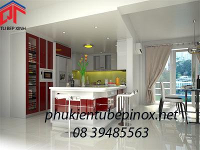 Tủ bếp đẹp nhà Anh Chung - TP. HCM