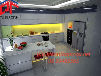 Tủ bếp đẹp nhà Anh Tường - Tân Phú