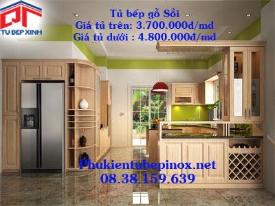 Tủ bếp gỗ Sồi nhà Anh Anh - Quận 9