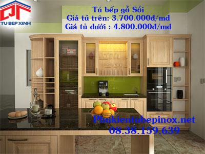 Tủ bếp gỗ Sồi nhà anh Bảo - Quận 2