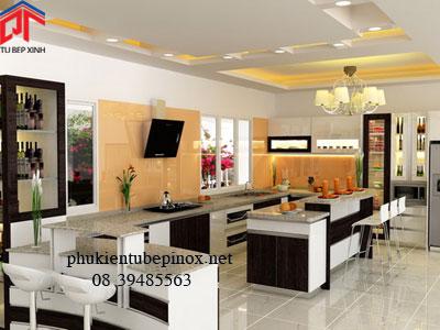 Tủ bếp hiện đại nhà anh Công - Thủ Đức