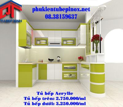 Tủ bếp đẹp nhà Chị Hương