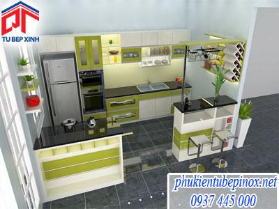 Tủ bếp acrylic nhà Anh Tuấn ( Cần Thơ)