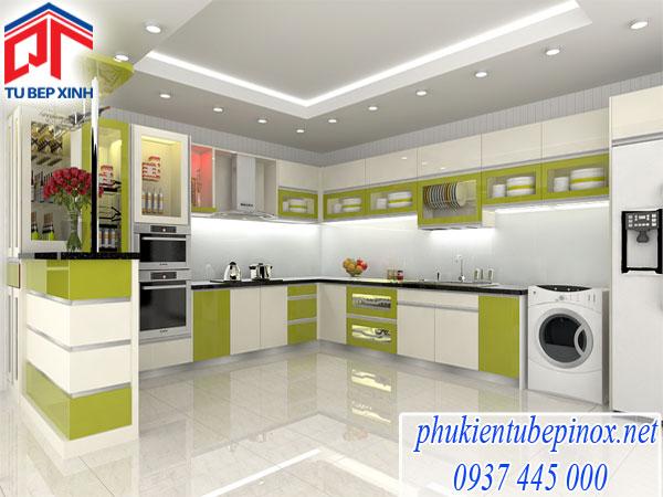 Tủ bếp Acrylic nhà chị Nhi ( Tân Phú)