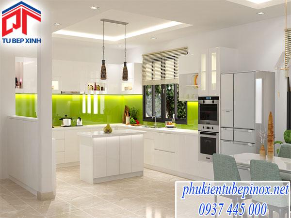 Tủ bếp  Acrylic  nhà Chị Yến - Quận 5